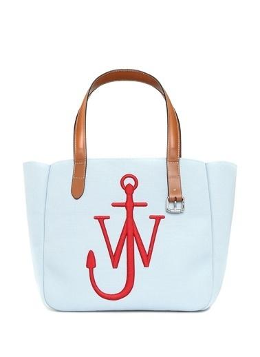 Jw Anderson Jw Anderson  Logo Nakışlı Kadın Omuz Çantası 101627766 Mavi